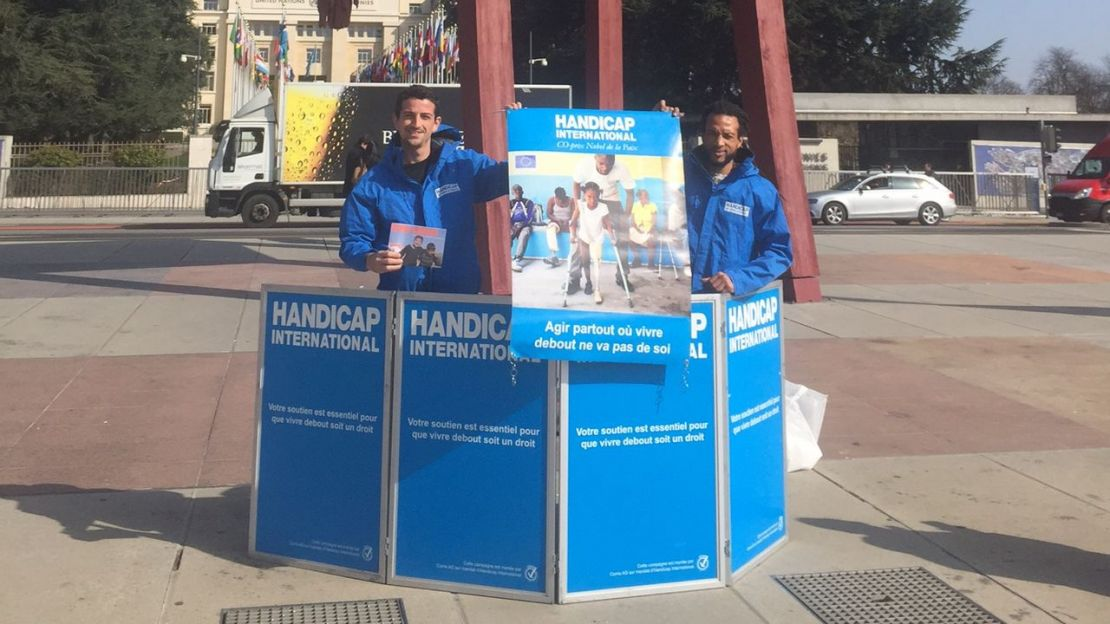 Handicap International Suisse: campagne face to face