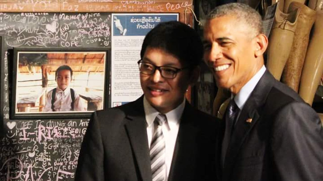 US-Präsident Obama und Ban Advocate Thoummy Silamphan
