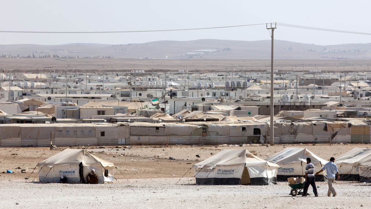 Zaatari Camp in Jordanien